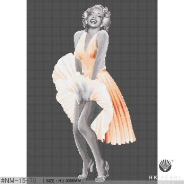 Marilyn Monroe skirt art mosaic
