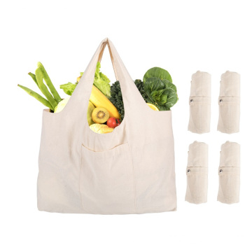 Pure cotton reusable grocery tote shopping bagshopping bag