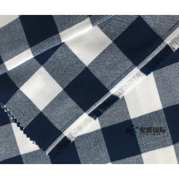 Super Soft Check Woven Twill 100% Cotton Fabric