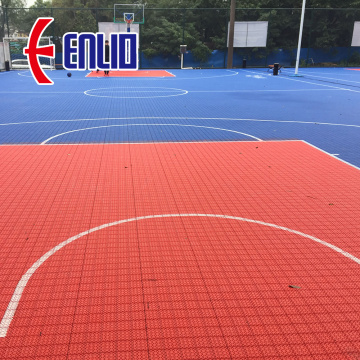 Outdoor basketball interlocking court mat