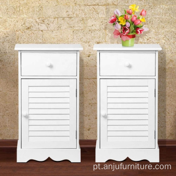 Set of 2 Nightstands Storage Drawer Cupboard wooden Bedside Table Cabinets