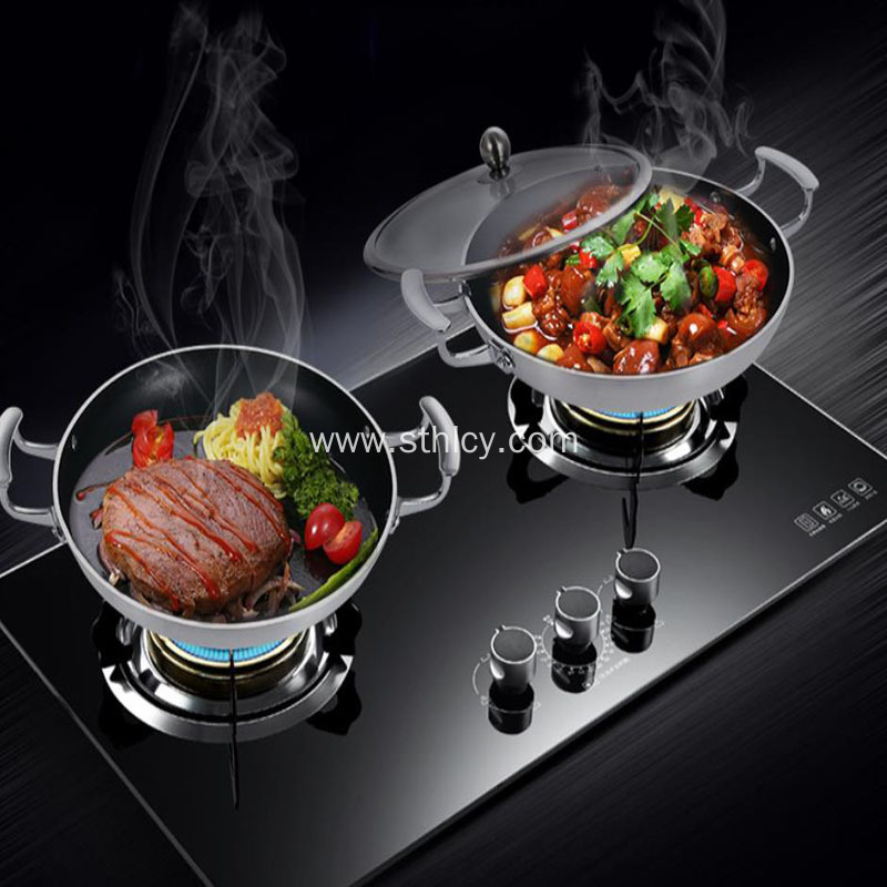 Stainless Steel Binaural Nonstick Pan