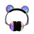Cartoon Panda Ear EarphonesGlowing verdrahtete Kopfhörer