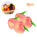 4PCS Artificial Fruits Simulation Peaches Foam Peaches Decoration Fake Fruit for Home Decor High imitation artificial Peaches