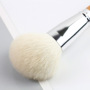 Powder brush with wooden handle