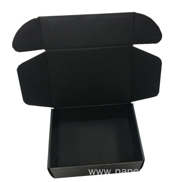 Black Custom Logo Design Corrugated E-commerce Shipping Box