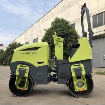 New type road roller with diesel engine