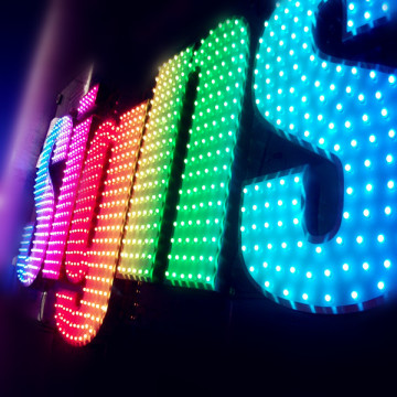 RGB Color Changing LED Channel Letter Signs