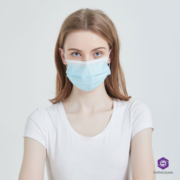 Disposable 3ply Face Masks with Elastic Earloop