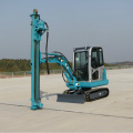 Spiral Hydraulic Piling Machine For Ground Screw