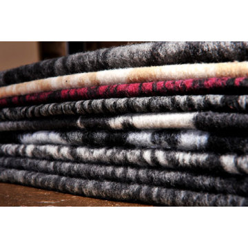 Jacquard Knitted Woolen Fabric Faux Fur