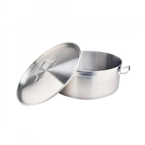 32Quart Stainless Steel Sandwich Bottom Braiser With Lid
