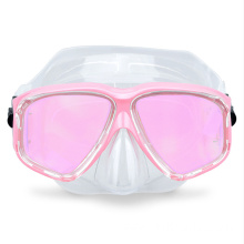 Half face electroplated colorful lenses diving mask