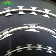 Concertina hot dipped galvanized razor barbed wire