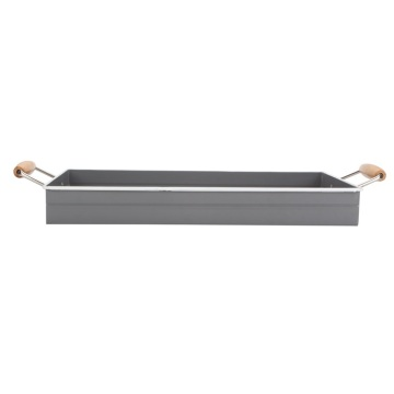 Decorative Rectangle Distressed Metal Tray