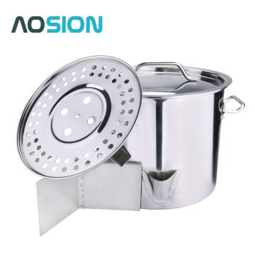 20QT Stainless Steel Stock Pot with Lid