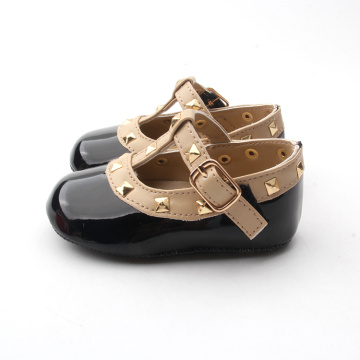 Exquisite Rivet Black Mary Jane Baby Dress Shoes