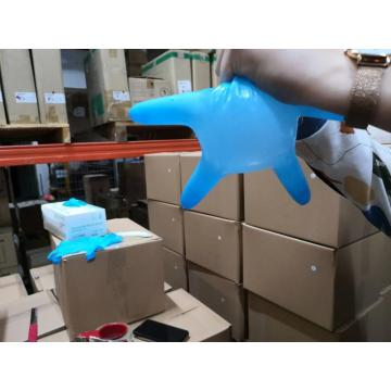 Powder Free Blue Nitrile Examination Medical Gloves