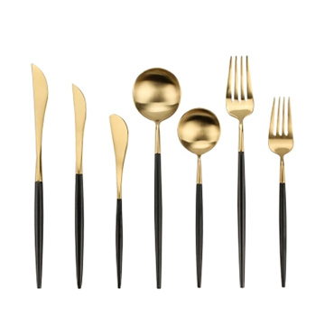 Grade Gold Plated Dinnerware  Stainless Steel Cutlery