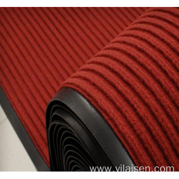 Colorful design striped mat with non skid backing
