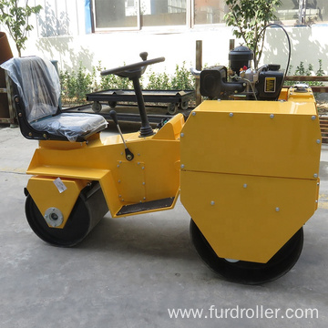 Mini tandem vibratory roller ride on roller compactor Smooth Drum Road Roller  FYL-855