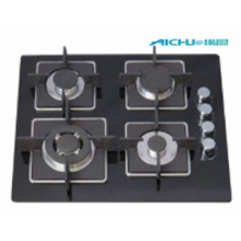 4 Burners Built In Tempered Glass Gas Hob