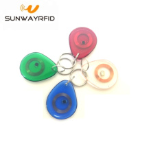 HF/LF/UHF RFID Transparent key chain