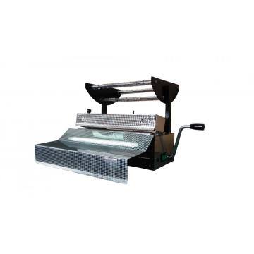 Plastic pouch heat sealing machine