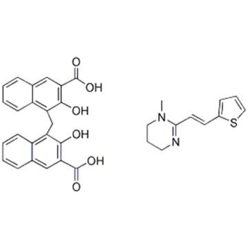 2-Naphthalenecarboxylic acid, 4,4'-methylenebis[3-hydroxy-, compd. with 1,4,5,6-tetrahydro-1-methyl-2-[(1E)-2-(2-thienyl)ethenyl]pyrimidine (1:1) CAS 22204-24-6