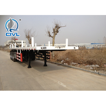 white semi trailer for container transport