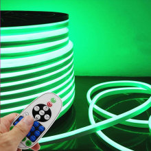 Luces de tira de neón del LED flexible verde de la decoración