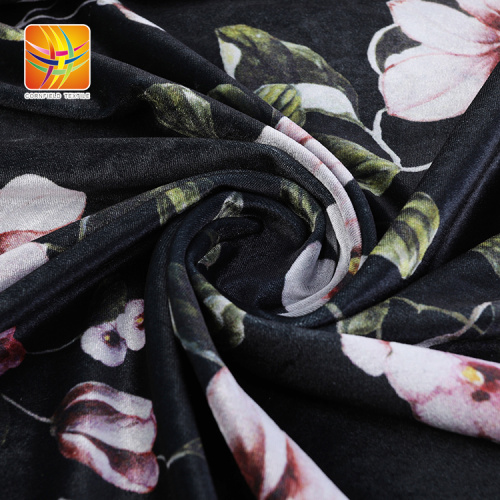 Popular Excellent Quality Polyester Velour Fabric