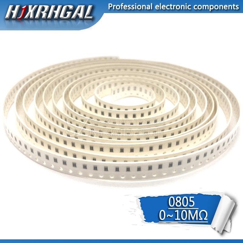 5000Pcs 0805 SMD 1/8W chip resistor 0R ~ 10M 0 10R 100R 220R 330R 470R 1K 4.7K 10K 47K 100K 0 10 100 330 470 ohm hjxrhgal