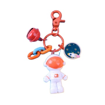 Personalized Plastic Spaceman Keychain