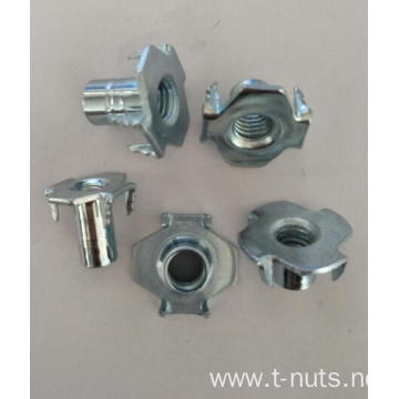 3/8-16-5/8 Hopper feed 4 Prongs Rivet T-Nuts