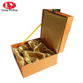 Luxury cosmetic decorations paper box with metal lock