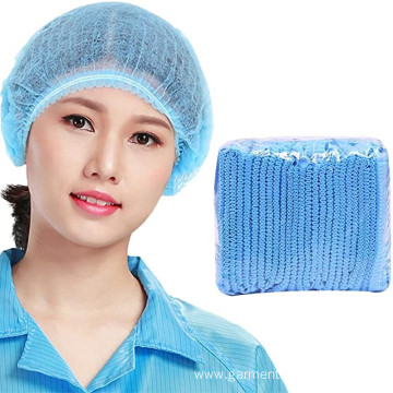 Non-woven Disposable Bouffant Blue Dust-Proof Clip Caps