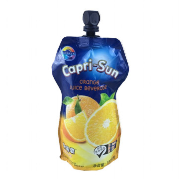 Custom juice liquid packaging 330ml stand-up spout-bag