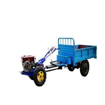 Agricultural transport vehicle walking tractor dump trailer