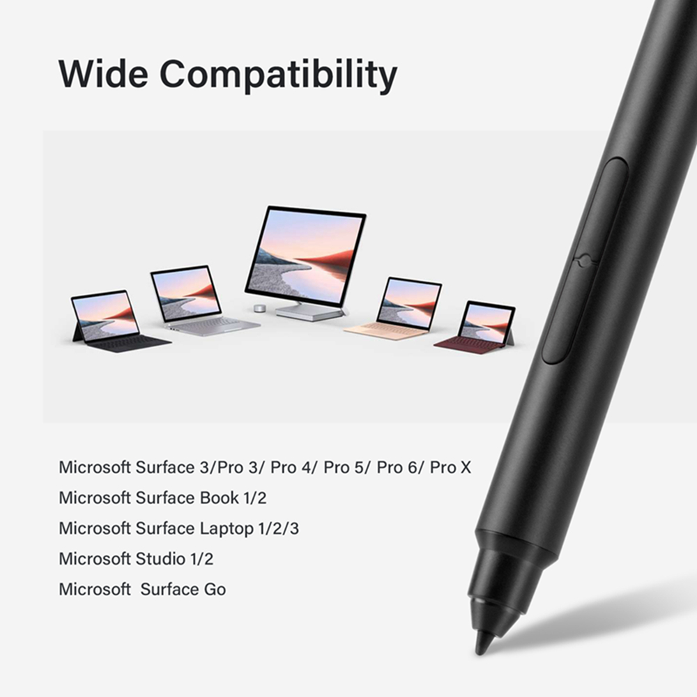 Zindov Microsoft Surface Pen Stylus Palm Rejection High Precision and No Latency Surface Pro X/7/6/5,Surface 3/Go/Go2/Studio/B