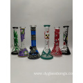 Luminous glass beaker base bongs in multiple design