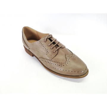 Ladies  Perforated Lace-up Shoes Brogue Wingtip