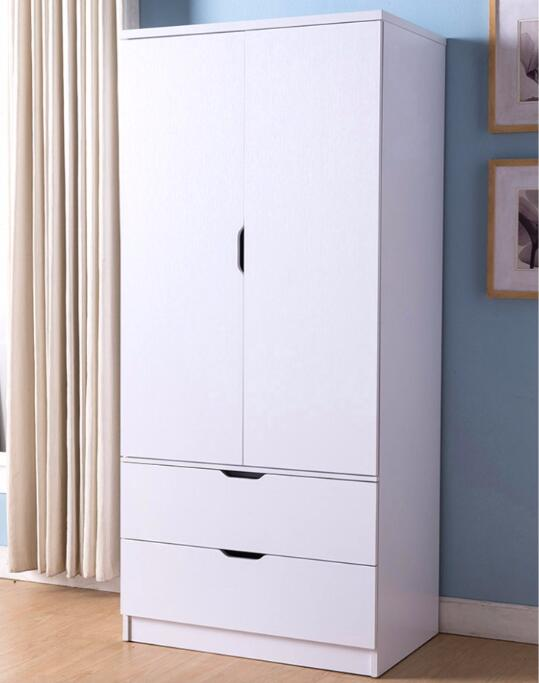 Single Wardrobe for Hanging Clothes with Drawers