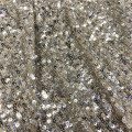 Hot Selling Sequin Embroidery On Nylon Spandex Mesh