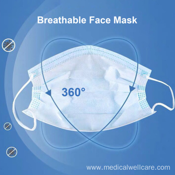 Disposabl Anti Dust Flexible Earloop Sanitary Surgical Masks