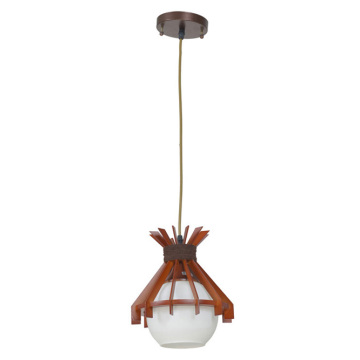 Wood hanging lamp for home decor lighting