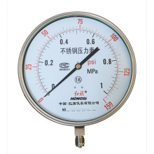 SS Stainless Steel Bourdon Tube Pressure Gauge