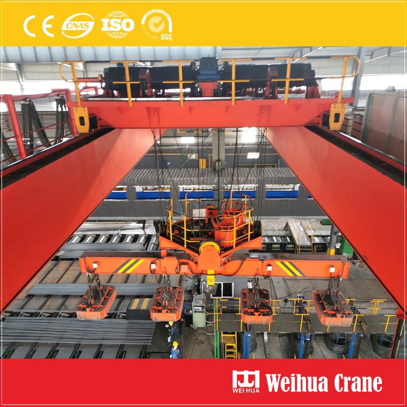 Overhead Crane With Rotary Electromagnetic Device