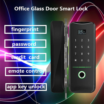 Glass door fingerprint lock