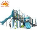 Blue Outdoor Structure Slide Combination Playground For Sale